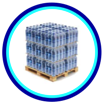 Pallets of Bottled Water